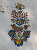PlÅ för vinkällare ¾ e i Petrov - traditionell freskomålning Royaltyfria Bilder