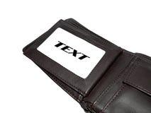 plånbok för lädermän s Royaltyfri Foto