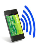Plånbok för NFC Digital stock illustrationer