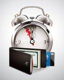 Plånbok med kassa och kreditkortar Royaltyfria Foton