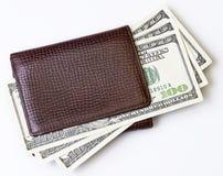 Plånbok med pengar Royaltyfria Foton