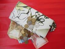 Plånbok med pengar Royaltyfri Foto