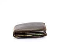 Plånbok med pengar och kontokortet royaltyfri bild