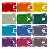 Plånboksymbolsuppsättning royaltyfri illustrationer