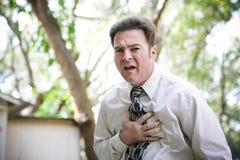 Plötzliche Krankheit oder Herzinfarkt lizenzfreie stockfotos