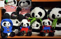 Plüschspielwaren des großen Pandas Stockfotos