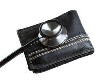 plånbok för 3 stetoskop Fotografering för Bildbyråer