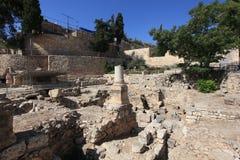 Pöl av Bethesda Archaeological Site, Israel Arkivbild