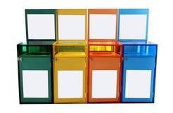 Pl?stico trashcan fotografía de archivo libre de regalías