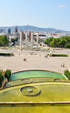 Plaça d'Espanya在巴塞罗那,西班牙 免版税库存图片