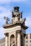 Plaça D ` Espanya Royalty-vrije Stock Fotografie
