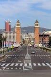 Plaça D ` Espanya Stock Foto