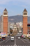 Plaça D ` Espanya Stock Fotografie