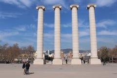 Plaça d ` Espanya 免版税库存图片