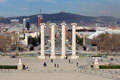 Plaça d ` Espanya 库存图片