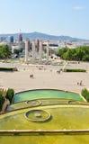 Plaça d'Espanya i Barcelona, Spanien Royaltyfria Bilder