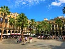 Plaça Reial w Barcelona zdjęcie stock