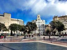 Plaça de Catalunya στοκ φωτογραφία με δικαίωμα ελεύθερης χρήσης