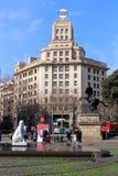 Plaça DE Catalunya - Barcelona, Spanje Stock Afbeelding