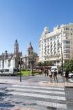 Plaça de l'Ajuntament, València Fotos de Stock Royalty Free