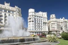 Plaça de l'Ajuntament, València Imagem de Stock