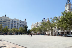 Plaça de l'Ajuntament, València Foto de Stock Royalty Free