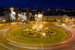 Plaça δ ` Espanya, Βαρκελώνη, Ισπανία Στοκ εικόνες με δικαίωμα ελεύθερης χρήσης