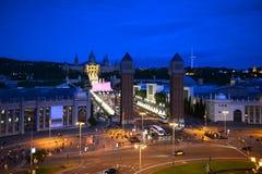 Plaça δ ` Espanya, Βαρκελώνη, Ισπανία Στοκ Φωτογραφίες