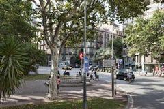 Plaça Urquinaona, Βαρκελώνη Στοκ Φωτογραφία
