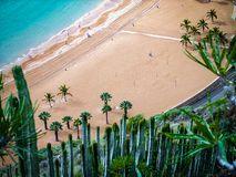 Plażowy krajobraz w Tenerife obraz stock