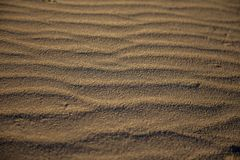 Plażowy piasek z czochrami zdjęcia stock