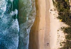 Plażowy wysokość strzał fotografia stock