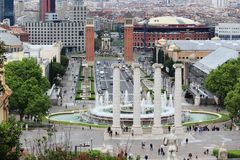 Plaça d`Espanya Square of Spain, Barcelona Stock Image