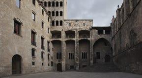 Plaça del rei - Барселона Стоковое Фото