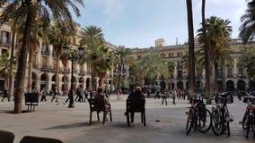 Royal Square Barcelona Stock Image