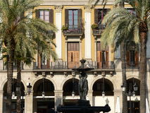 Plaça Reial, Barcelona (Spain) Foto de Stock