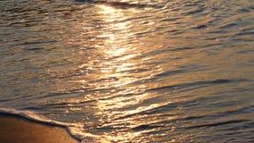 Plaż fala rozbija w popołudniu zdjęcie wideo