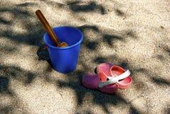 Plaż zabawki Zdjęcia Stock