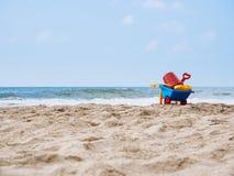 Plaż zabawki na piaska wakacje letni Podróżują plenerowego Fotografia Stock