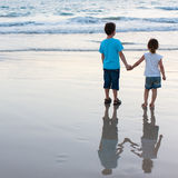 plaża żartuje dwa Fotografia Stock