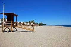 Plaża, Carboneras, Andalusia, Hiszpania. zdjęcia stock