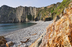 Plaża cisza, Asturias (Hiszpania) obrazy royalty free