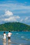 plaża dobiera się odprowadzenie fotografia royalty free