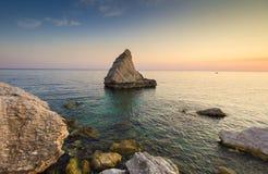 Plaża dzwonił Los Angeles Vela na Adriatic morzu, Marche Obrazy Royalty Free