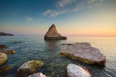 Plaża dzwonił Los Angeles Vela na Adriatic morzu, Marche Zdjęcie Royalty Free