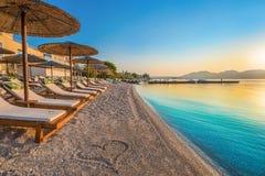 Plaża, Grecja zdjęcie royalty free