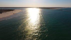 Plaża i błękitne wody Obraz Royalty Free