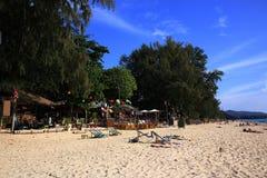 Plaża i drzewa, Phra Ae plaża, Ko Lanta, Tajlandia Obrazy Stock