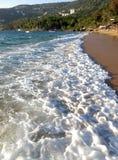 Plaża i kipiel przy Puerto Marques Meksyk w Guerrero zdjęcie royalty free