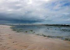Plaża i morze na wybrzeżu Bahia obrazy stock